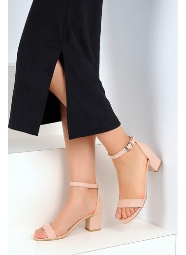 Pembe Potin Ayakkabı Pudra
